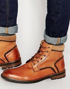 Кожаные светло-коричневые ботинки на шнуровке Dune - Рыжий