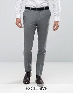 Строгие зауженные брюки в клетку Number Eight Savile Row - Зеленый