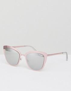 Солнцезащитные очки кошачий глаз Quay Australia Super Girl - Розовый
