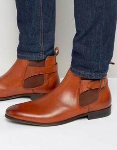 Светло-коричневые кожаные ботинки челси с пряжками KG by Kurt Geiger - Рыжий