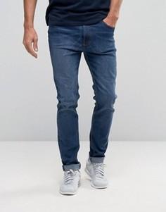 Выбеленные зауженные джинсы стретч цвета индиго Bellfield - Темно-синий