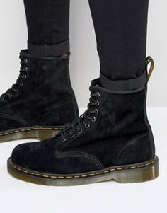 Замшевые ботинки с 8 парами люверсов Dr Martens 1460 - Черный