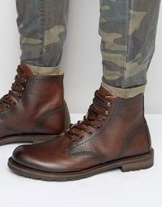 Кожаные ботинки на шнуровке Shoe The Bear - Коричневый