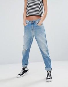 Джинсы в винтажном стиле с рваными коленями Pepe Jeans Freya - Синий