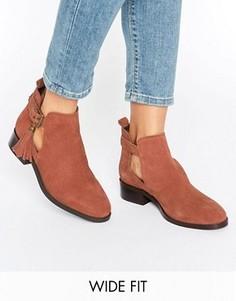 Ботинки из искусственной замши с бахромой ASOS AUDRINA - Красный