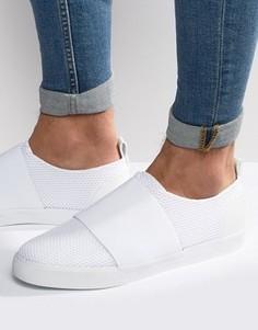 Белые сетчатые кроссовки-слипоны с резинкой ASOS - Белый