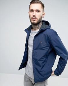 Темно-синяя нейлоновая куртка на молнии с капюшоном Farah - Темно-синий