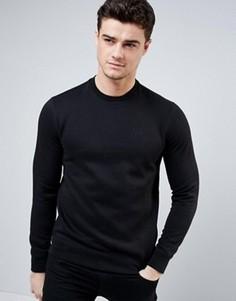 Черный свитшот с логотипом Armani Jeans - Черный