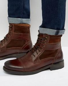 Кожаные ботинки на шнуровке Aldo Engis - Рыжий