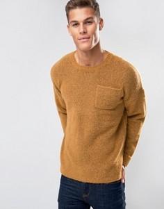 Джемпер с отворотами на манжетах и карманом на груди ASOS - Оранжевый