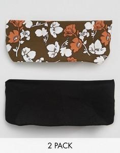 2 повязки на голову с цветочным принтом ASOS - Мульти