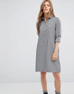 Платье-рубашка из ткани шамбре YMC - Темно-синий