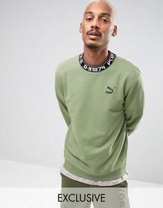 Зеленый свитшот с высокой горловиной Puma 57443201 - Зеленый