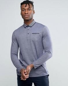 Трикотажная узкая футболка-поло Burton Menswear - Синий