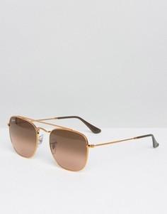 Квадратные солнцезащитные очки-авиаторы Ray-Ban - Золотой
