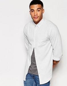 Светло-голубая рубашка классического кроя с карманом New Look - Синий