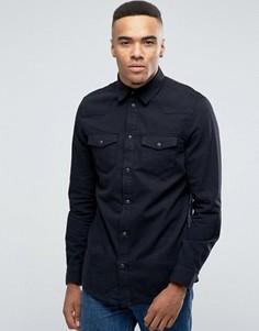 Черная джинсовая рубашка в стиле вестерн классического кроя New Look - Черный