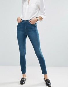 Укороченные джинсы скинни ASOS RIDLEY - Синий