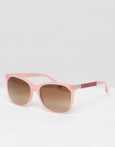 Розовые квадратные солнцезащитные очки Emporio Armani - Розовый