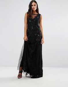 Платье макси с отделкой A Star Is Born - Черный