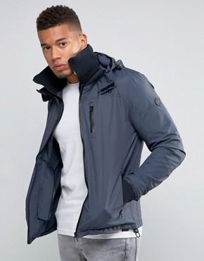 Куртка с капюшоном и воротником-труба Firetrap - Темно-синий
