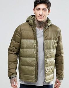 Стеганая куртка с капюшоном Fat Moose Cosmo - Зеленый