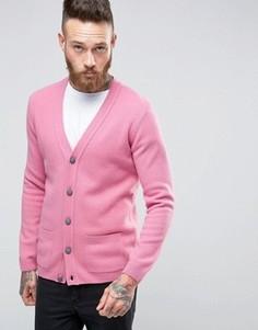 Кардиган из овечьей шерсти ASOS - Розовый