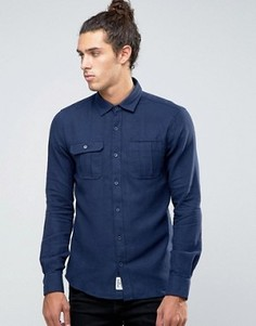 Джинсовая рубашка Threadbare - Темно-синий