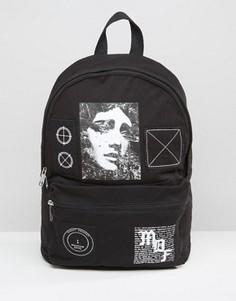 Рюкзак с накладками ASOS - Черный