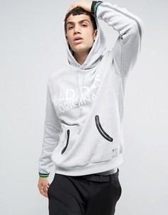 Худи с контрастными манжетами adidas Originals - Серый
