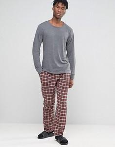 Фланелевые штаны для дома в клетку Esprit - Красный