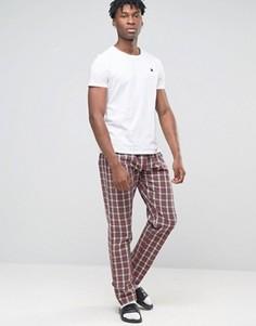Клетчатые штаны для дома Esprit - Красный