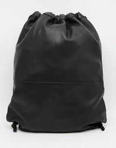 Кожаный рюкзак со шнурком Sandqvist - Черный