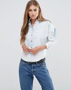 Стильная рубашка цвета индиго Maison Scotch - Синий