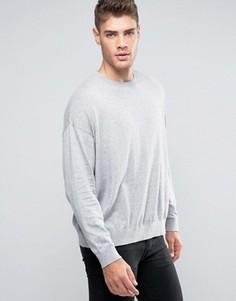 Свободный серый джемпер из хлопка ASOS - Серый