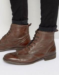 Кожаные ботинки-броги Hudson London Simpson - Коричневый