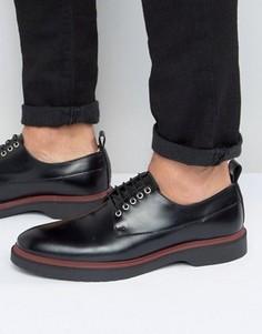 Черные дерби на шнуровке с цветной подошвой ASOS - Черный