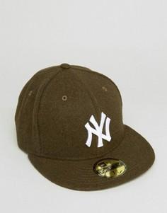 Шерстяная бейсболка New Era 59Fifty NY Yankees - Зеленый