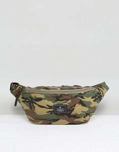Сумка-кошелек на пояс с камуфляжным принтом ASOS - Зеленый