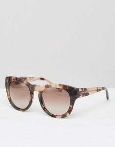 Черепаховые круглые солнцезащитные очки Michael Kors - Розовый