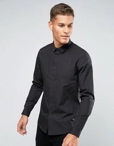 Черная рубашка классического кроя ASOS - Черный