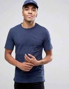 Темно-синяя меланжевая футболка из хлопка Minimum - Темно-синий