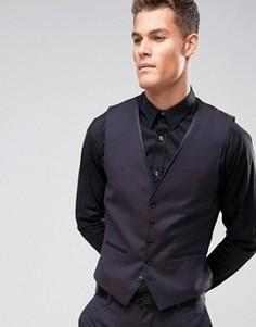 Жаккардовый зауженный жилет Burton Menswear - Фиолетовый