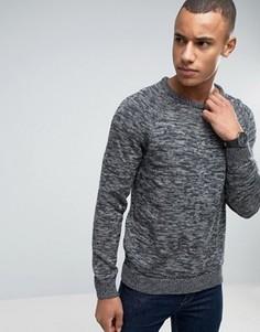 Джемпер с круглым вырезом и рукавами реглан Esprit - Серый