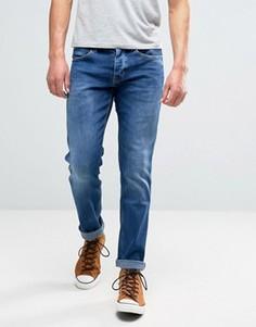 Синие выбеленные джинсы прямого кроя Wrangler Spencer Picth - Синий