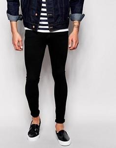 Черные супероблегающие джинсы Dr Denim Dixy Low Spray On Extreme - Черный