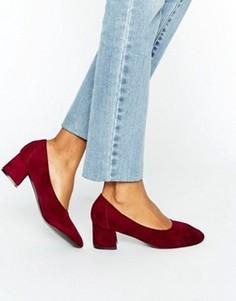 Бордовые туфли на среднем каблуке Daisy Street - Красный