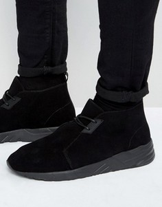 Черные кроссовки из искусственной замши со шнуровкой ASOS - Черный
