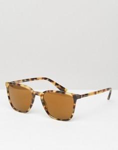 Квадратные солнцезащитные очки в черепаховой оправе Dolce & Gabbana - Коричневый