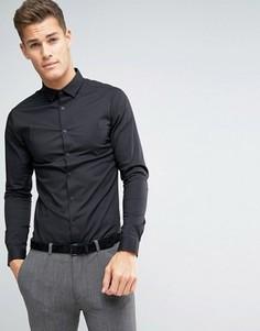 Черная супероблегающая рубашка ASOS - Черный